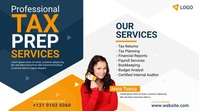 Tax Prep Services Ad Post sa Twitter template