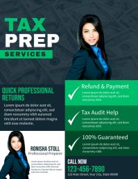 Tax Prep Services Folheto (US Letter) template