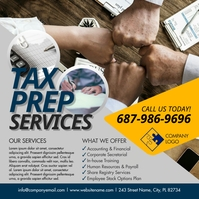 Tax Prep Services Instagram Post template
