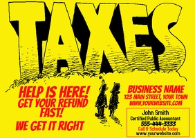 TAX PREPARATION AD POSTCARD