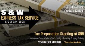 Tax Preparation Business Card