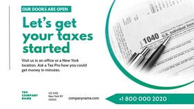 Tax preparation office Advert Banner Facebook Cover Video (16:9) template