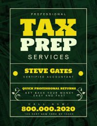 Tax preparation office Flyer Template