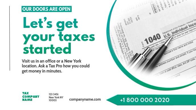 Tax preparation office Flyer Template Digitalt display (16:9)