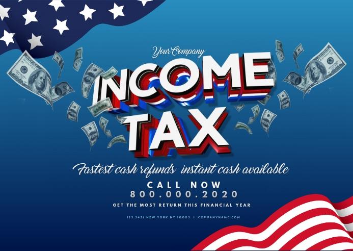 Tax preparation office Flyer Template Postkort