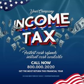 Tax preparation office Instagram Template