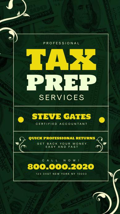 Tax preparation office instagram story Instagram-verhaal template