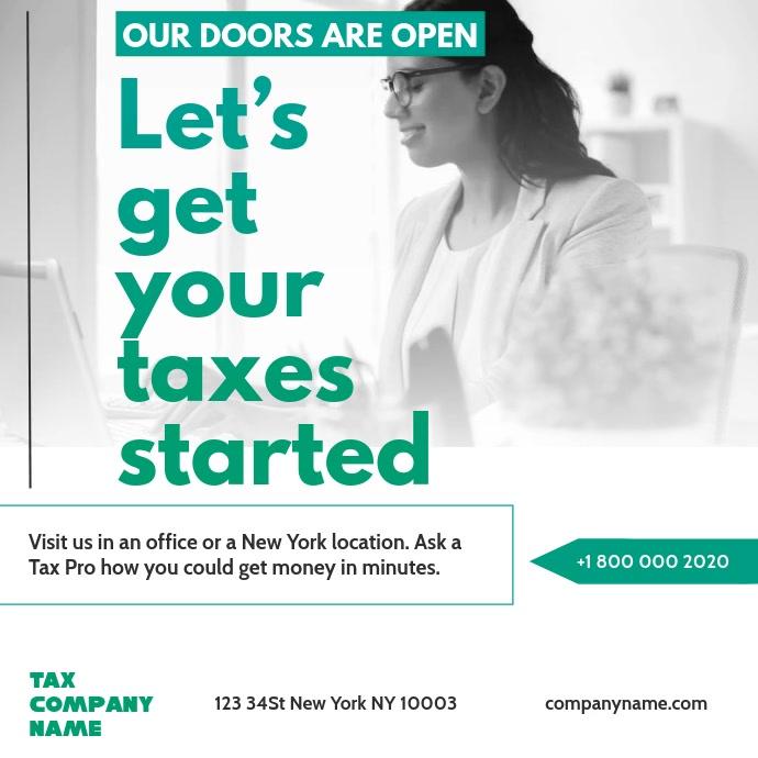 Tax preparation office Instagram Video