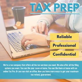 Tax Preparation Services Facebook Template