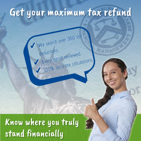 Tax Refund Facebook Post Template