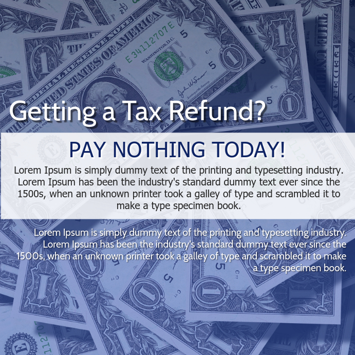 Tax Refund Services Facebook Template