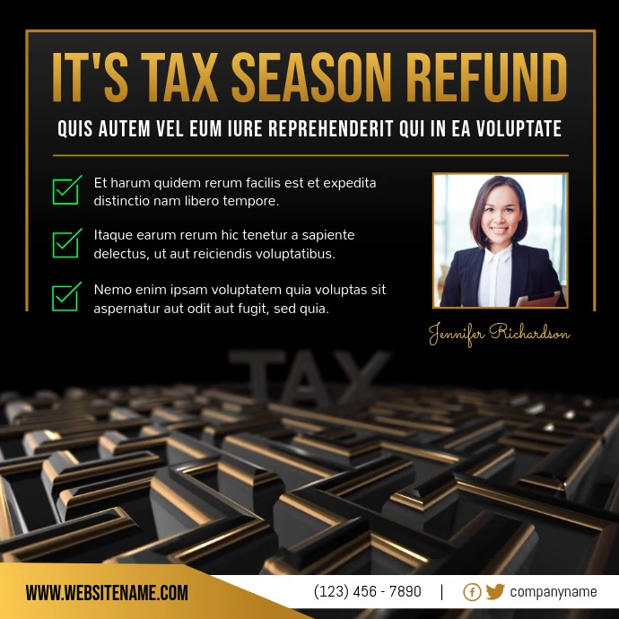 Tax Refund Tax Agency Ad Instagram Video