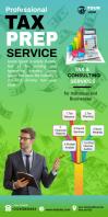 tax service advertising Cartel enrollable de 3 × 6 pulg. template