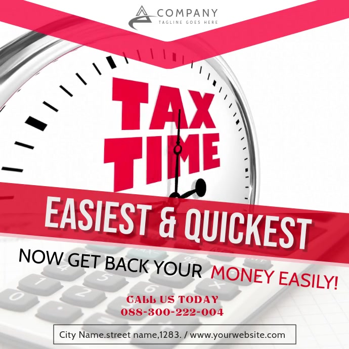 Tax Service Agency Ad Instagram Video Cuadrado (1:1) template