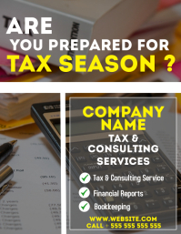 tax service office flyer advertisement