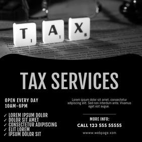 tax service video ad template Square (1:1)