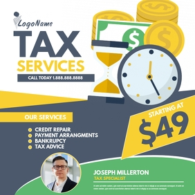 Tax services Instagram Post template