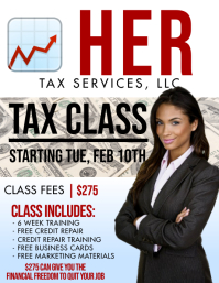 Tax Services Flyer (Letter pang-US) template