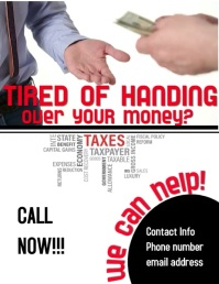 Tax services Flyer (US Letter) template