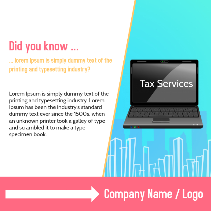 tax services facebook post template postermywall