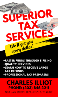 Tax Services Flyer US na Legal template