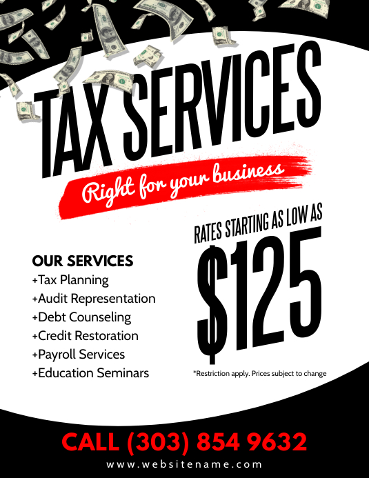 Tax Services Flyer Template Postermywall