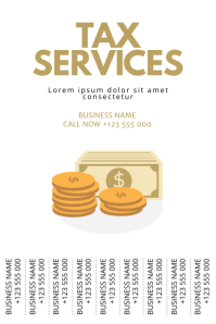 Tax services Flyer Template Poster