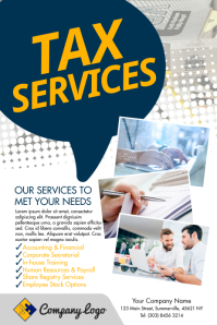 Tax Services Poster template