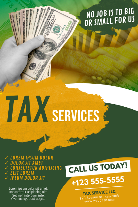 Tax Servide Advertising Template Plakat