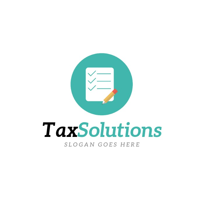 Tax Solutions Logo template