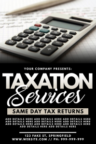 Taxation Services Poster template