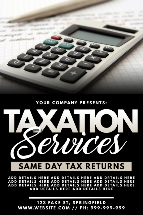 Taxation Services Poster Plakat template