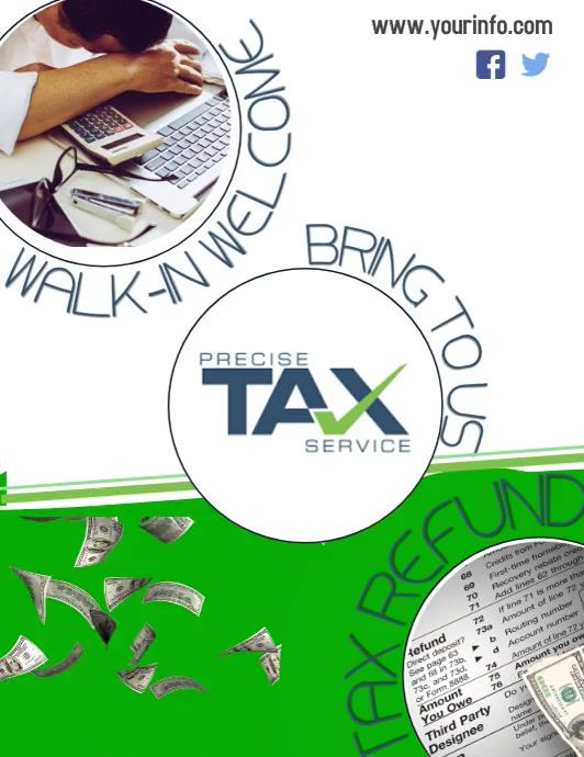 Taxes Løbeseddel (US Letter) template