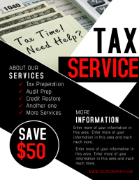 120 Customizable Design Templates For Tax Postermywall