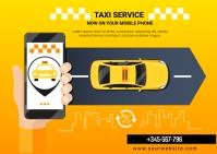 taxi app Postcard template