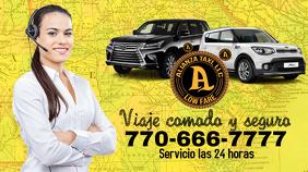 Taxi Tampilan Digital (16:9) template