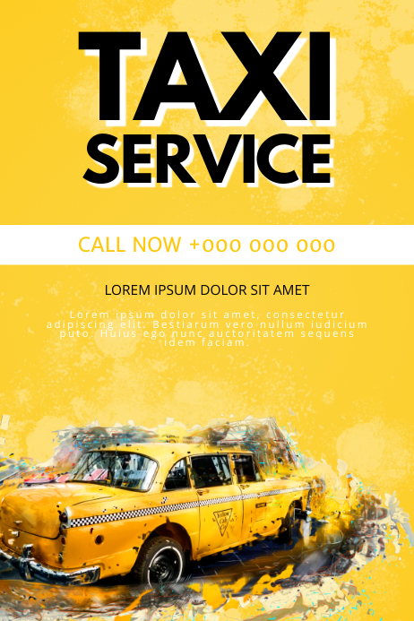 Taxi Service Company Flyer Template