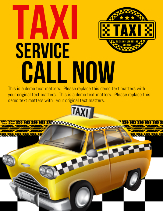 Taxi Service Template | PosterMyWall