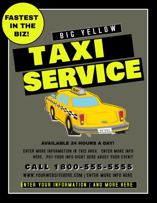 Plantilla de Servicio de Taxi de | PosterMyWall