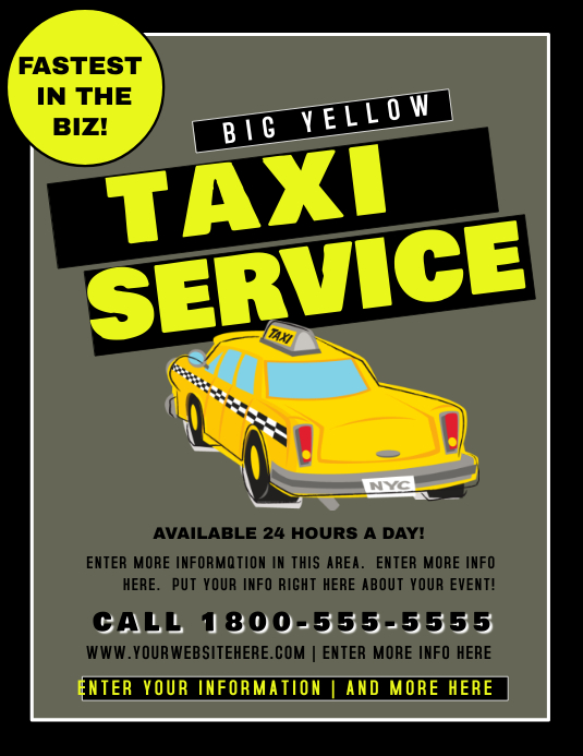 taxi service Flyer (Letter pang-US) template