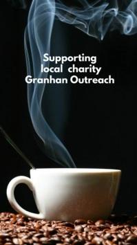 Tea and coffee morning flyer Historia de Instagram template