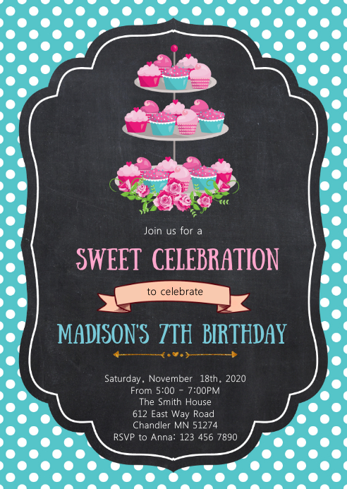 Tea birthday party invitation