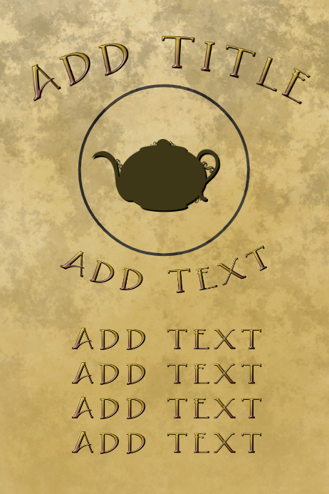 Tea or coffe kettle, old paper background