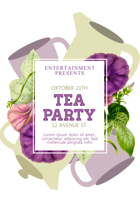 Tea Party flyer Template