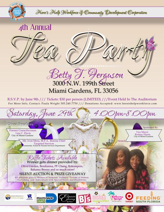 tea party flyers