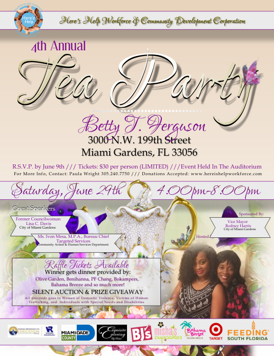 tea party flyers template