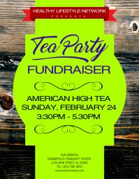 Tea Party Fundraiser Flyer