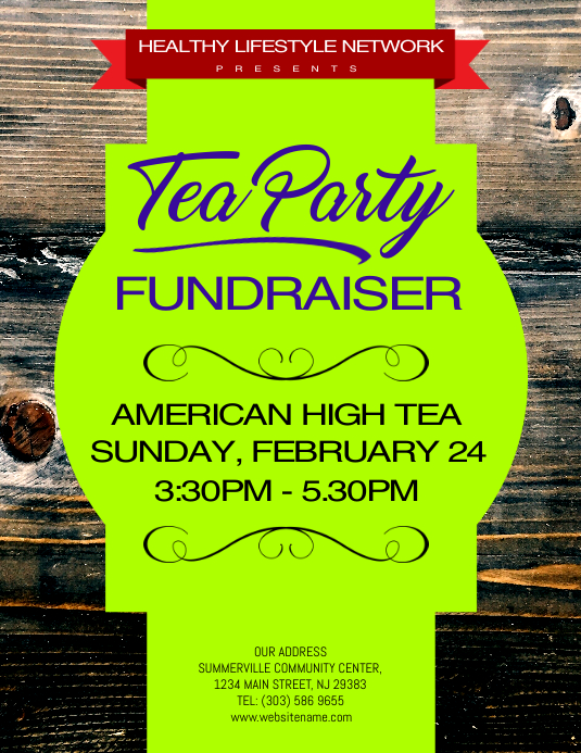 Tea Party Fundraiser Flyer