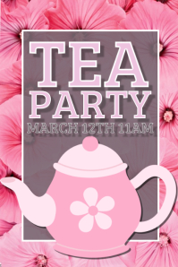 tea party flyer template free