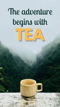 Tea quote Instagram-verhaal template